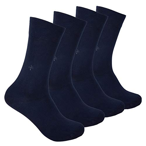 BAMBOO SOCKS - Natural, Antibacterial, Scented, Seamless Soft Silk Touch - Made In TURKEY (Navy)