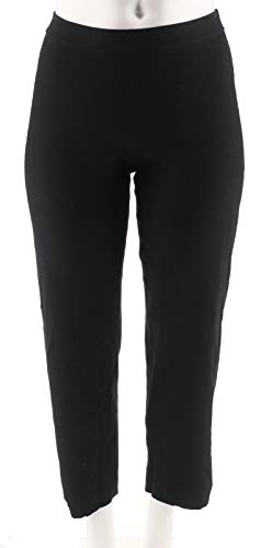 Linea Louis Dell'Olio Petite Whisper Knit Pull On Pants Black PXL New A295890 from Linea by Louis Dell'Olio