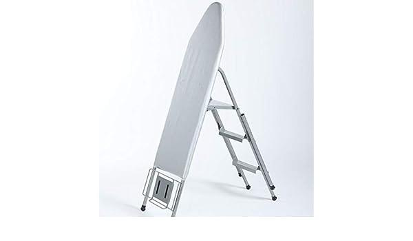 Ropa fáciles tabla de planchar Inicio tabla de planchar, Demasiado robusta planchado metálica de la placa exterior de escalera y tabla de planchar, Doble Uso, gris / rojo 106 * 35 *