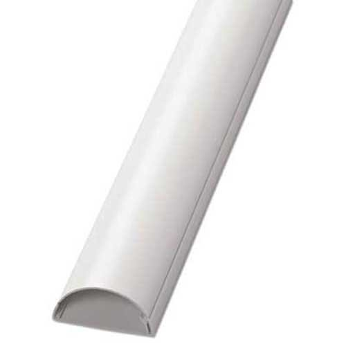 D-Line Decorative Desk Cord Cover, Two 60 inch x 2 inch x 1 inch Covers, White, 2/Pack