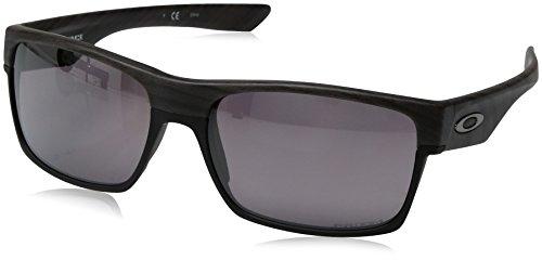 Oakley Men's OO9189 TwoFace Square Sunglasses, Woodgrain/Prizm Daily Polarized, 60 ()