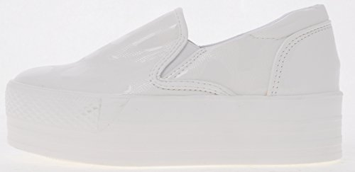 Slip Leather PU C7 Maxstar 30 Platform Synthetic White White Span on Sneakers wUOHTg