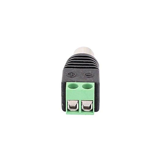 Amazon.com: eDealMax 20 piezas Tornillo Terminal coaxial Cat5 Cat6 de Audio y vídeo RCA hembra Conector Jack: Electronics