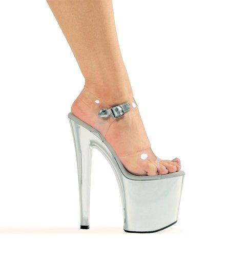 (821-CHROME, Striper Sandal., 12,)
