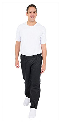 DAM Uniforms Unisex Baggy Chef Pant - Black - L by DAM Uniforms
