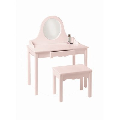 Little Colorado Vanity and Bench Set, Soft Pink - Little Colorado Vanity