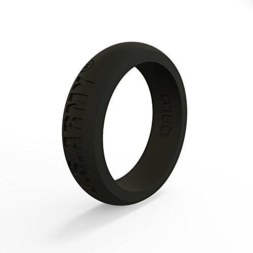 (Women's Black U.S. Army Classic Q Q2X Silicone Ring Size 05)