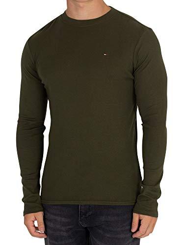 T Sottili Costine shirt A Verde Lunghe Uomo Maniche Jeans Tommy TUgvEE