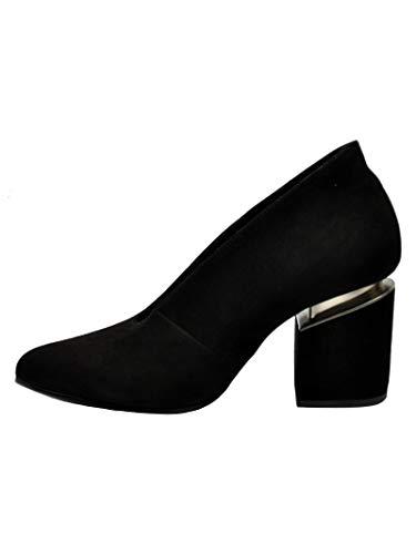 Altos 1t6976dblack Mujer Negro Vic Matié Zapatos Gamuza RYn5Tp