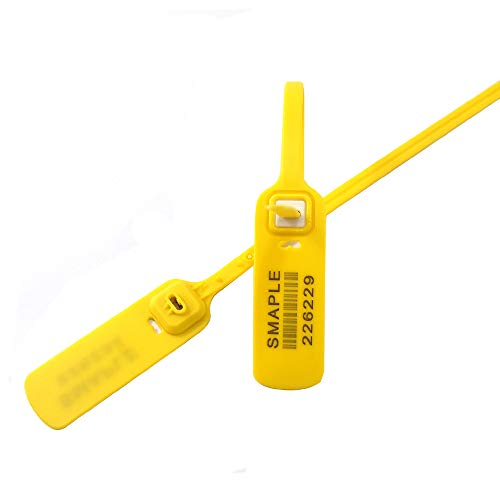 """Buckle Seal (YAFENG 300MM 11.8"""" Disposable Luggage Container Anti-counterfeiting Anti-Theft Anti-Drop Buckle Label Cable tie tag Anti-Adjustment Plastic Seal(Pack of 100pcs)) (Yellow))"""