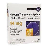 Habitrol Nicotine Transdermal System Stop Smoking Aid Patch, 14 mg, Step 2, 14 ea - ()