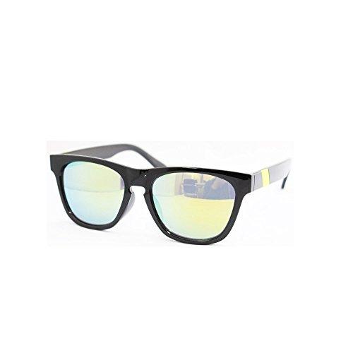 Eight Tokyo (Japan Import) H2108-10 Women's UV Cut Wellington Type Sunglasses Black/Yellow - Wellington Sunglasses