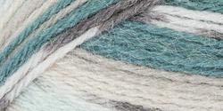 "Mary Maxim Natural Alpaca Tweed Yarn ""Aqua Stripe"" | 4 Medium Worsted Weight Yarn for Knit & Crochet Projects | 77% Acrylic, 20% Alpaca, 3% Viscose| 4 Ply - 262 -"