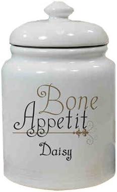 Personalized Ceramic Bone Appetit Treat Jar Amazon Ca Pet Supplies