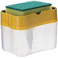 HUNG KAI Dispensador de Jabón con Esponja, Jabonera con Esponja para Fregadero, Automático Líquido Dispensador de Jabón…