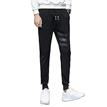 Mogogo Mens Casual Stitch Summer Fit Tapered Athletic Fit Soild Work Pant 1 2XL