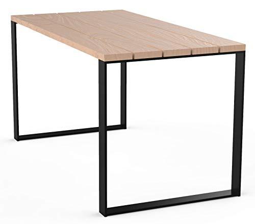 Mesa en estilo loft mesa jardin terraza balcon para exterior estable de madera