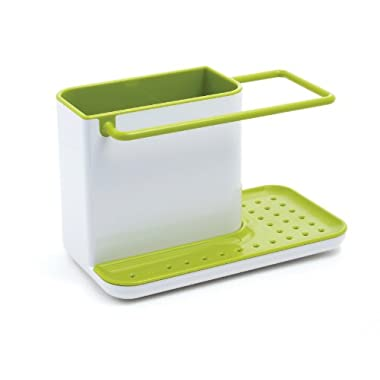 Joseph Joseph 85021 Sink Caddy Kitchen Sink Organizer Holder for Dish Soap Sponge Brush Holder Drains Water Dishwasher-Safe, Green