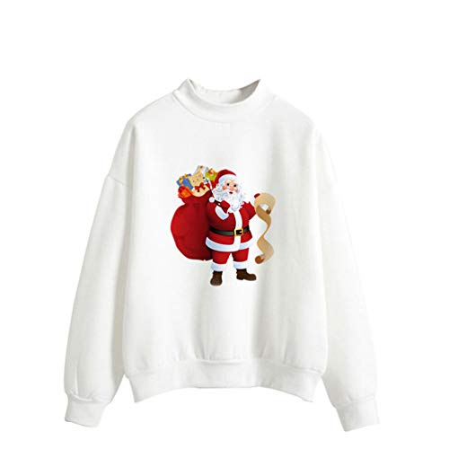 As Shown9 Noël Jersey Zkooo Sweatshirts De Bande Base Dessinée Femmes Mode Chandail Pull Sweat Tops Imprimer ZwZ67Eq