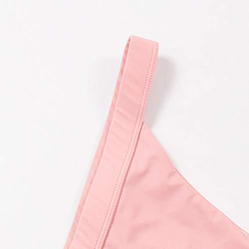 AIEason Women Sexy Solid Beach Bikini T-Shaped Swimwear Swimming Brief Trunks Pink by AIEason (Image #2)