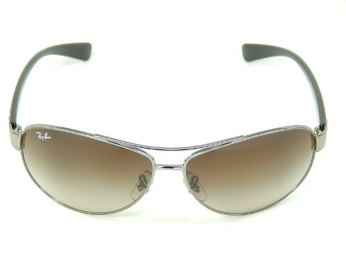 New Ray Ban RB3386 004/13 Gunmetal/Brown Gradient 63mm Sunglasses