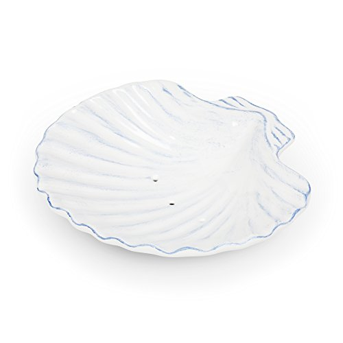 Abbott Collection 27-Seashell Ceramic Shell Soap Dish by Abbott Collection