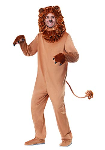 Lion Costume Adult Lovable Lion Costume for Adults X-Large Brown ()