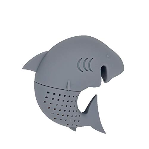 REDLEMON Infusor de Té en Forma de Tiburón, Silicón 100% Lavable para Hierba y Hoja Suelta para Taza de Té. Infusor de...