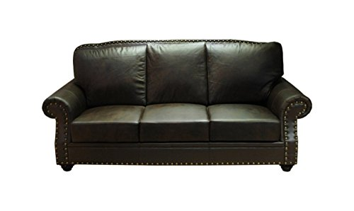 Greatime Bonded Leather Sofa, Dark Brown