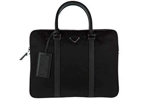 Prada Bag Briefcase (Prada briefcase attaché case laptop pc bag Nylon black)
