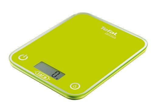 Tefal BC5002V0 Optiss - Báscula de cocina (5kg/1g, cristal), color verde claro: Amazon.es