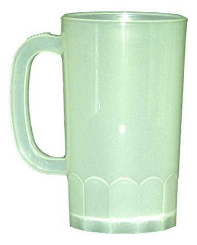 (Plastic Beer Mugs, Large 32 Oz, Pack 8, Color)