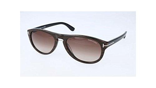 Tom Ford Sunglasses - Kurt / Frame: Brown Wood Grain Lens: Brown - Glasses Ford Round Tom Frames