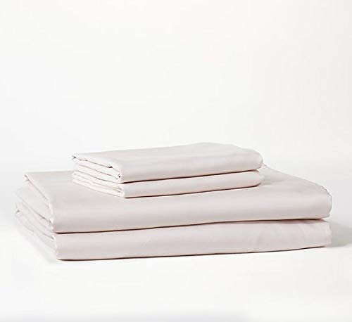 Bokser Home Sateen Extra Long Twin Bed Sheets Set, Blush - 100% Long Staple Cotton | Luxurious, Ultra Soft, 500 Thread Count Sateen Weave | Extra Deep Pockets | Certified Chemical-Free (Sheets Xl Blush Twin)
