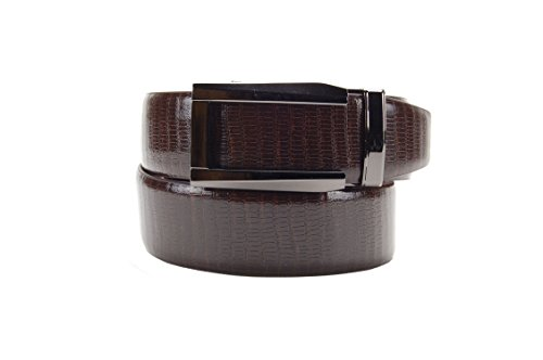 Nexbelt Premium Series: Reptile Belt (Lizard Brown w/Gunmetal Buckle)