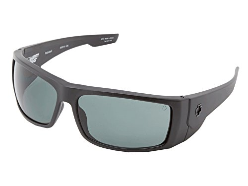 Spy Optic Konvoy Polarized Wrap Sunglasses, 66 mm (Matte Black)