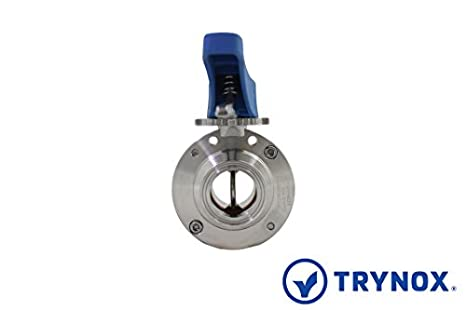 Trynox Clamp Sanitary Stainless Steel Butterfly Valve EPDM Seal 316L 3 Tri clamp Sanitary Fitting