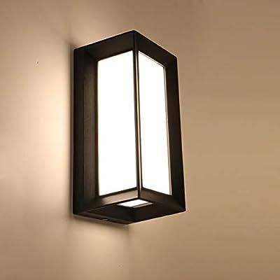 WLDD Lámpara De Pared LED Minimalista Negra Rectangular, Luz De La Escalera Del Pasillo Del Patio Interior Y Exterior A Prueba De Agua, Lámpara De Cabecera Del Dormitorio De La Sala De