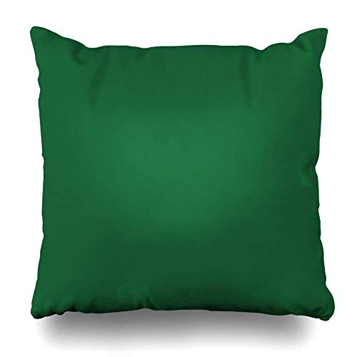 Mesllings Throw Pillow Covers Solid Kelly Green Pop of Color Pillowslip Square Size 16 x 16 Inches Cushion Cases Pillowcases