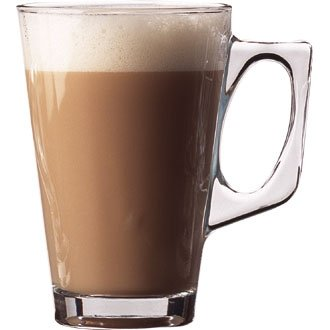 Winware 24 Tall Glass Coffee Mugs (Ideal for serving normal coffee or to give a distinctive presentation to lattes, liqueur coffees, and irish coffee)