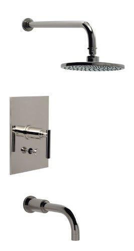 (Santec 2634EZ50-TM Polished 24K Gold Caprie / Dome Single Handle Tub and Shower Valve Trim Only with Metal Bar Lever Handles 2634EZ-TM)
