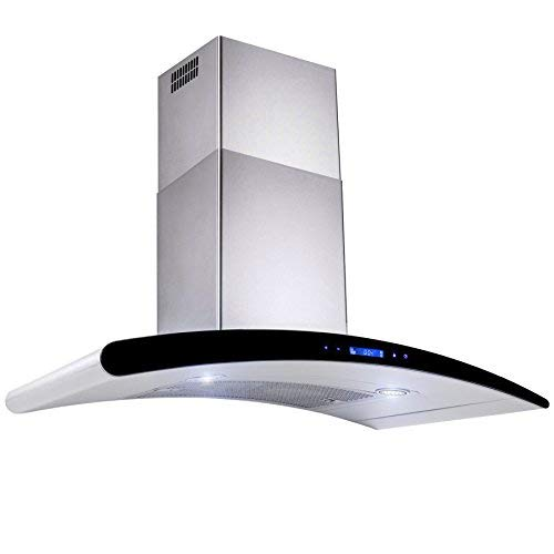 "AKDY New 30"" European Style Wall Mount Stainless Steel Range Hood Vent Touch Control"