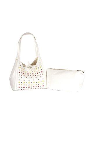 Borsa 2v7782 a3cr Stars Shopping Pepe Patrizia White