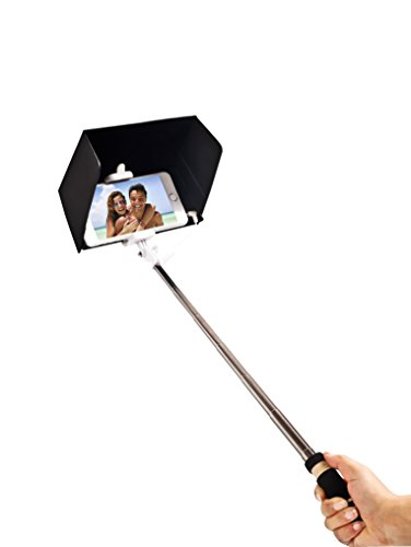 SummitLink Selfie Stick Plus Black SunShade, With Shutter Button Retractable Mini One-piece Self-portrait Monopod for iPhone 6, iPhone 6 Plus, iPhone 5, Samsung Galaxy S5 HTC