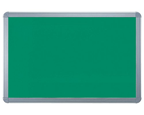 新協和 アルミ掲示板 フレーム取外し型 ラシャグリーン SMS-1060 シルバー B014OOTXN2