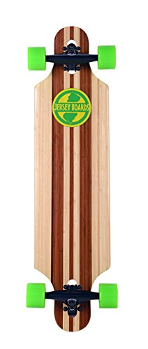 Jersey Boards Bamboo Drop Thru Natural Longboard, 36