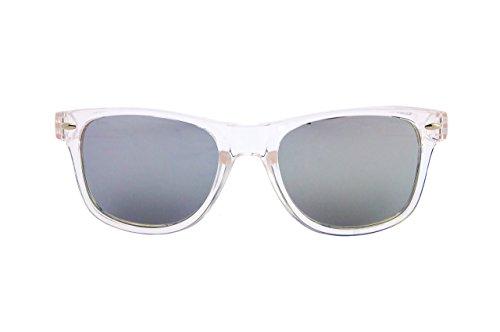 de Mar plata UV400 de Estilo transparente Unisex y Efecto Hombre Wayfarer montura Sol Policarbonato Pirata de Filtro Plata Gafas Espejo Nación Mujer EwHqx4Bq