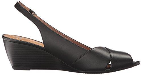 CLARKS Women's Brielle Kae Wedge Pump Black Leather cheap sale footlocker finishline cheap 2015 new 6RB83uTIQ