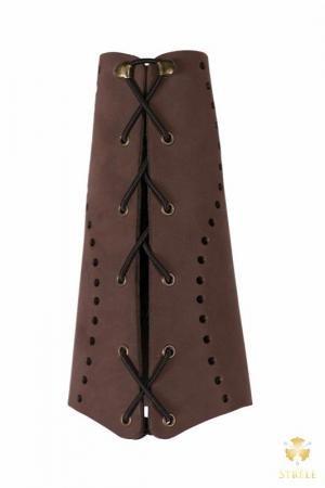 New Strele Bogenschießen traditionellen Leder Armschutz Armschutz Longbow Wohnung Bow (klein)