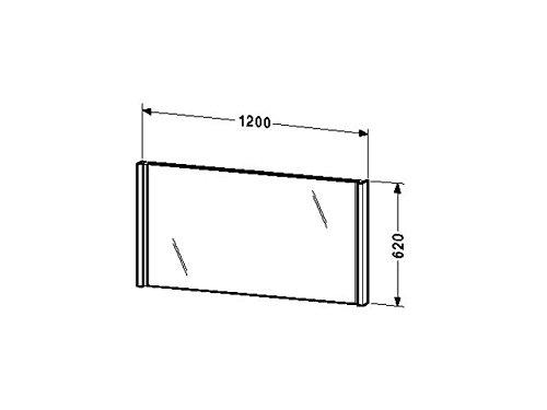 Duravit Spiegel mit Beleuchtung 2nd floor 72x1200x620mm, eiche anthrazit, 2F964806262
